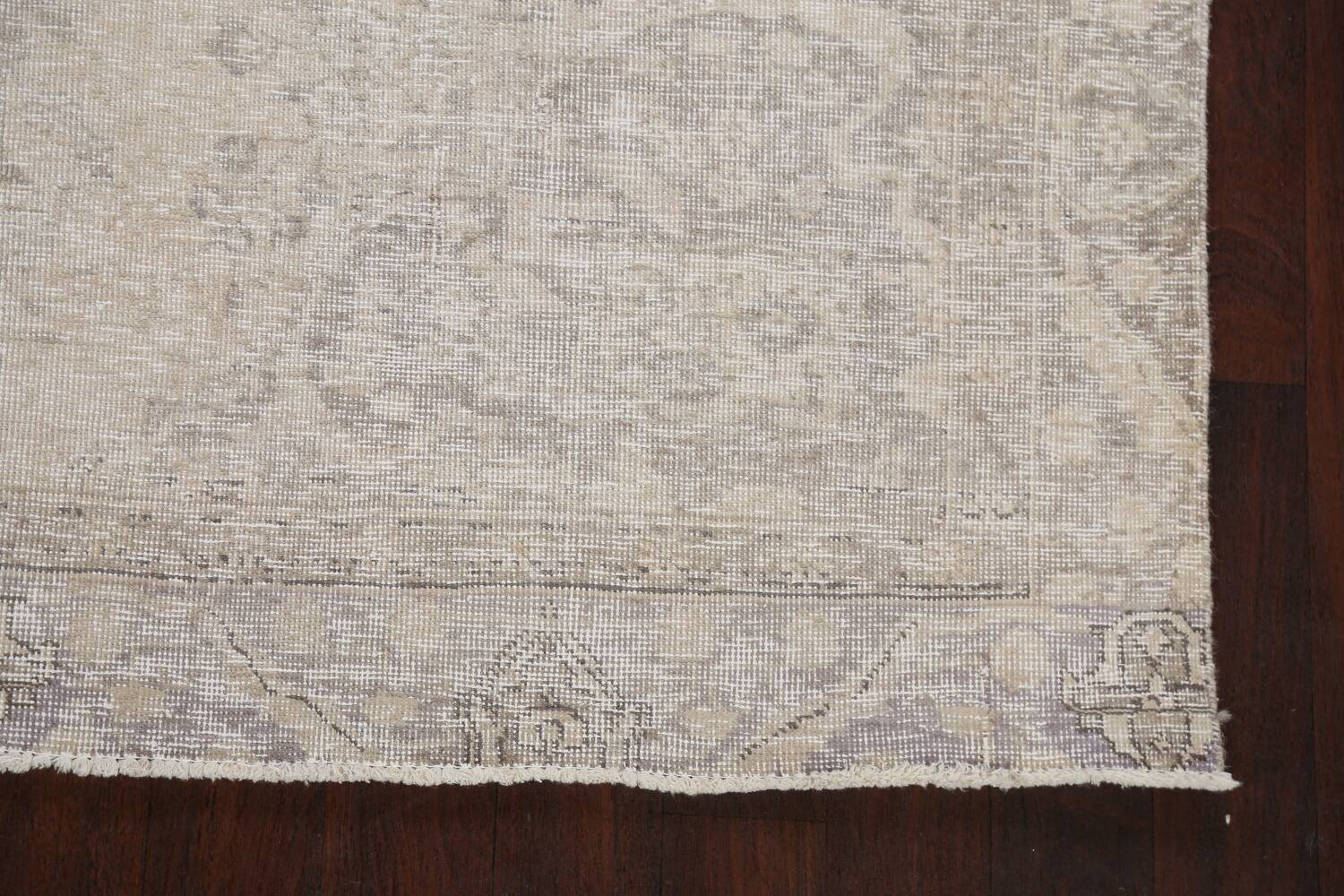 Muted Distressed Floral Tabriz Persian Area Rug 6x8 image 5