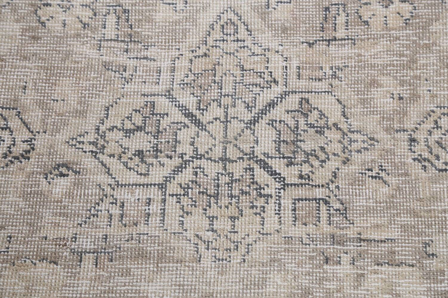 Muted Distressed Floral Tabriz Persian Area Rug 6x8 image 10