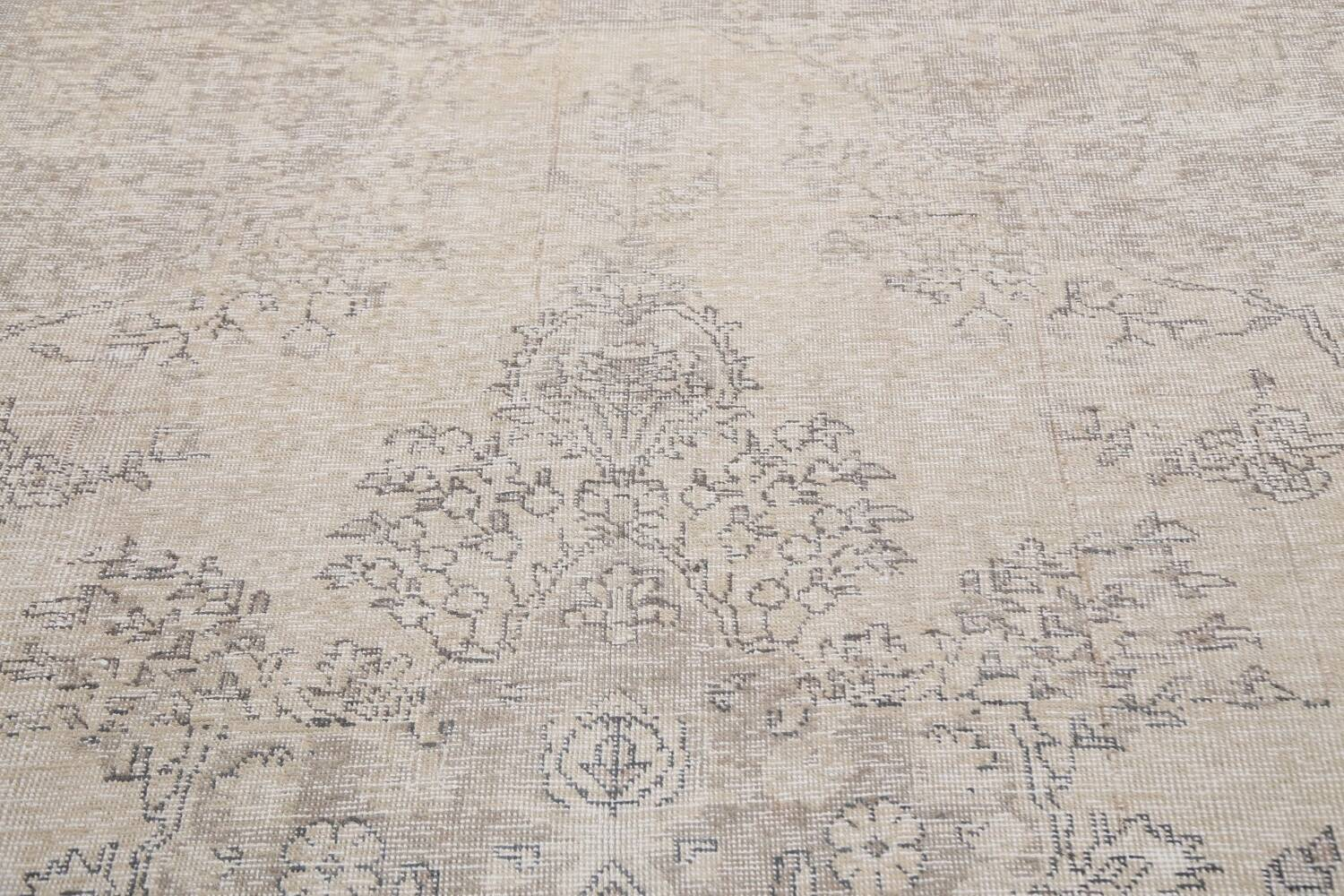 Muted Distressed Floral Tabriz Persian Area Rug 6x8 image 11