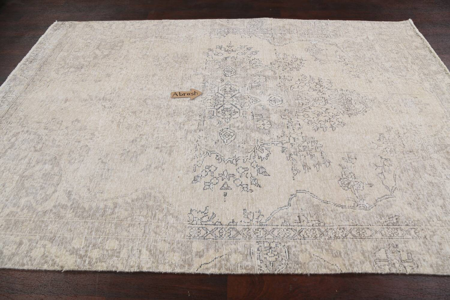 Muted Distressed Floral Tabriz Persian Area Rug 6x8 image 13