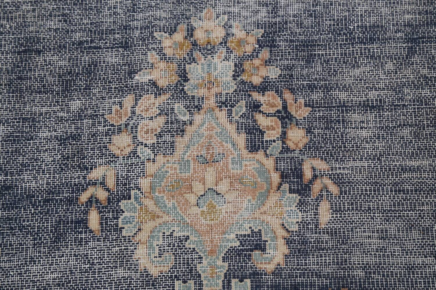 Antique Distressed Over-dyed Kerman Persian Area Rug 5x8 image 9