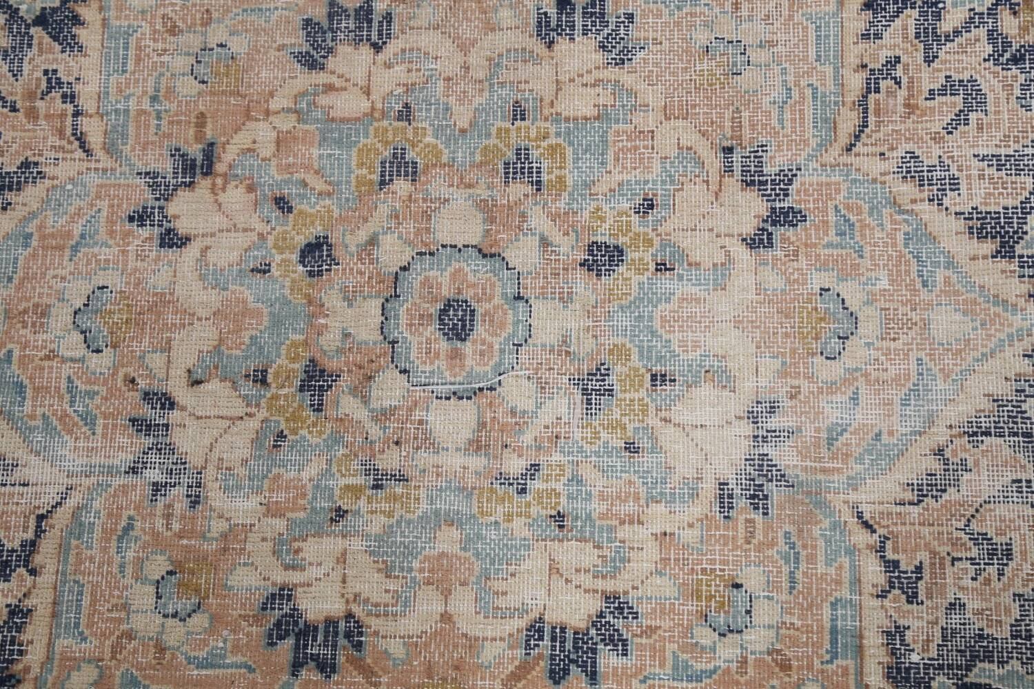 Antique Distressed Over-dyed Kerman Persian Area Rug 5x8 image 10