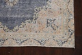 Antique Distressed Over-dyed Kerman Persian Area Rug 5x8 image 5