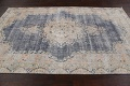 Antique Distressed Over-dyed Kerman Persian Area Rug 5x8 image 14