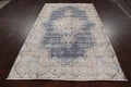 Antique Distressed Over-dyed Kerman Persian Area Rug 5x8 image 15