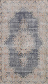 Antique Distressed Over-dyed Kerman Persian Area Rug 5x8 image 1