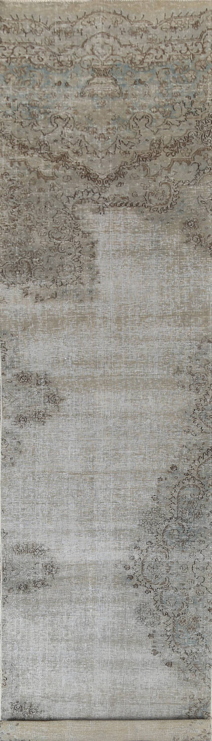 Muted Distressed Kashmar Persian Runner Rug 3x17 image 1