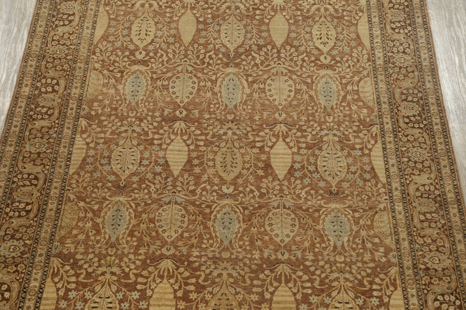 100% Vegetable Dye Floral Kashan Oriental Area Rug 9x12 image 3