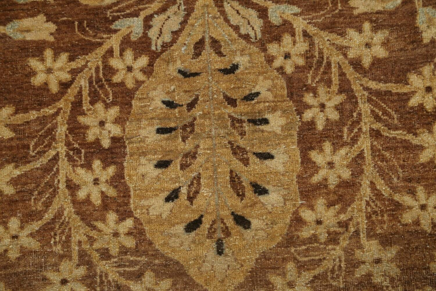 100% Vegetable Dye Floral Kashan Oriental Area Rug 9x12 image 9