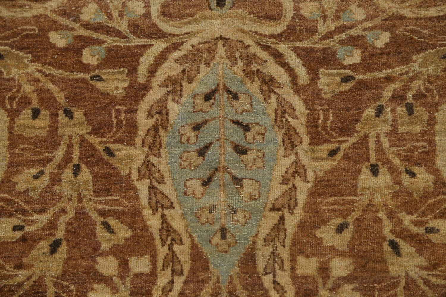 100% Vegetable Dye Floral Kashan Oriental Area Rug 9x12 image 11