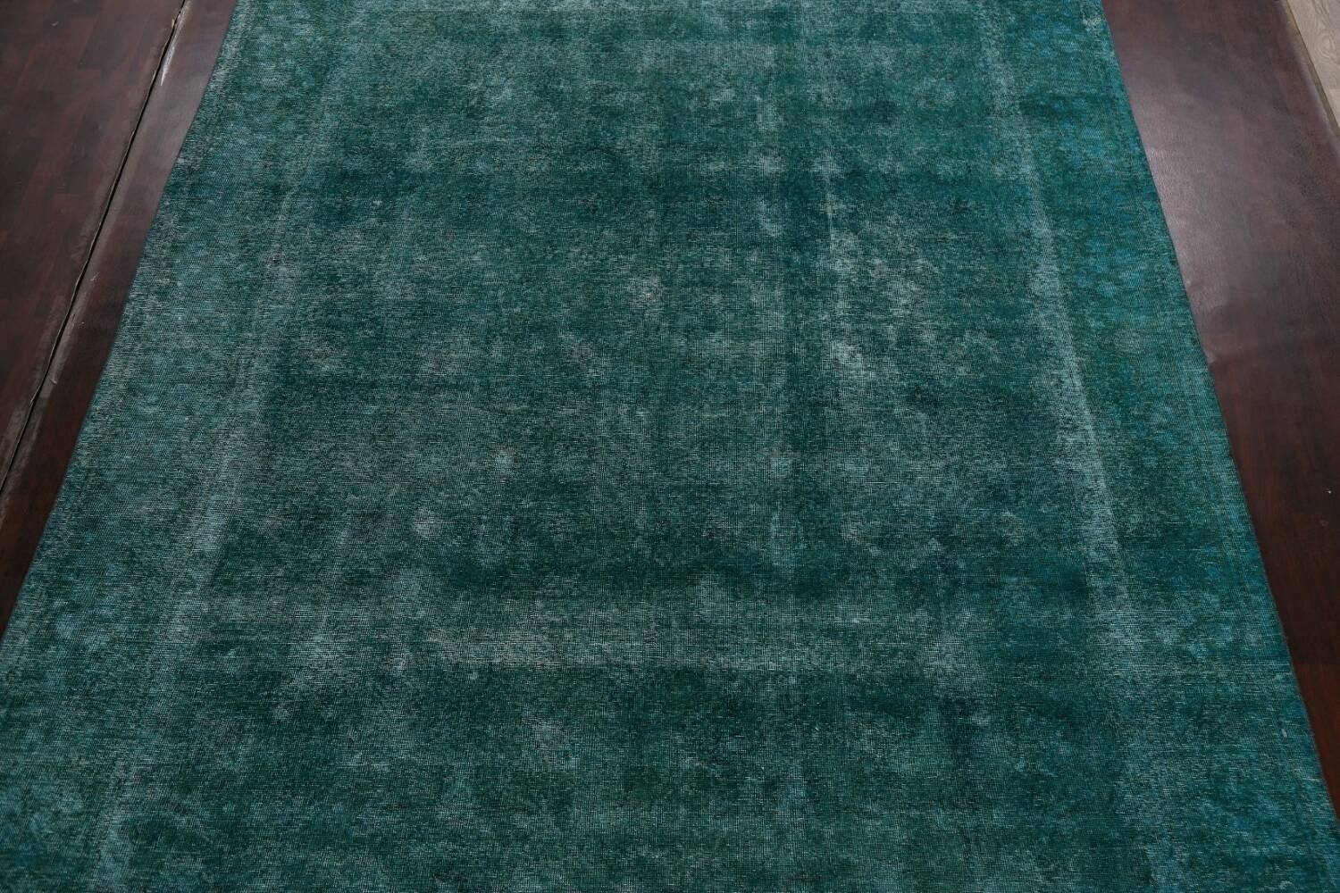 Distressed Over-dyed Tabriz Persian Area Rug 10x13 image 3
