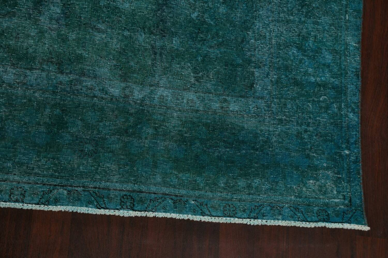 Distressed Over-dyed Tabriz Persian Area Rug 10x13 image 5