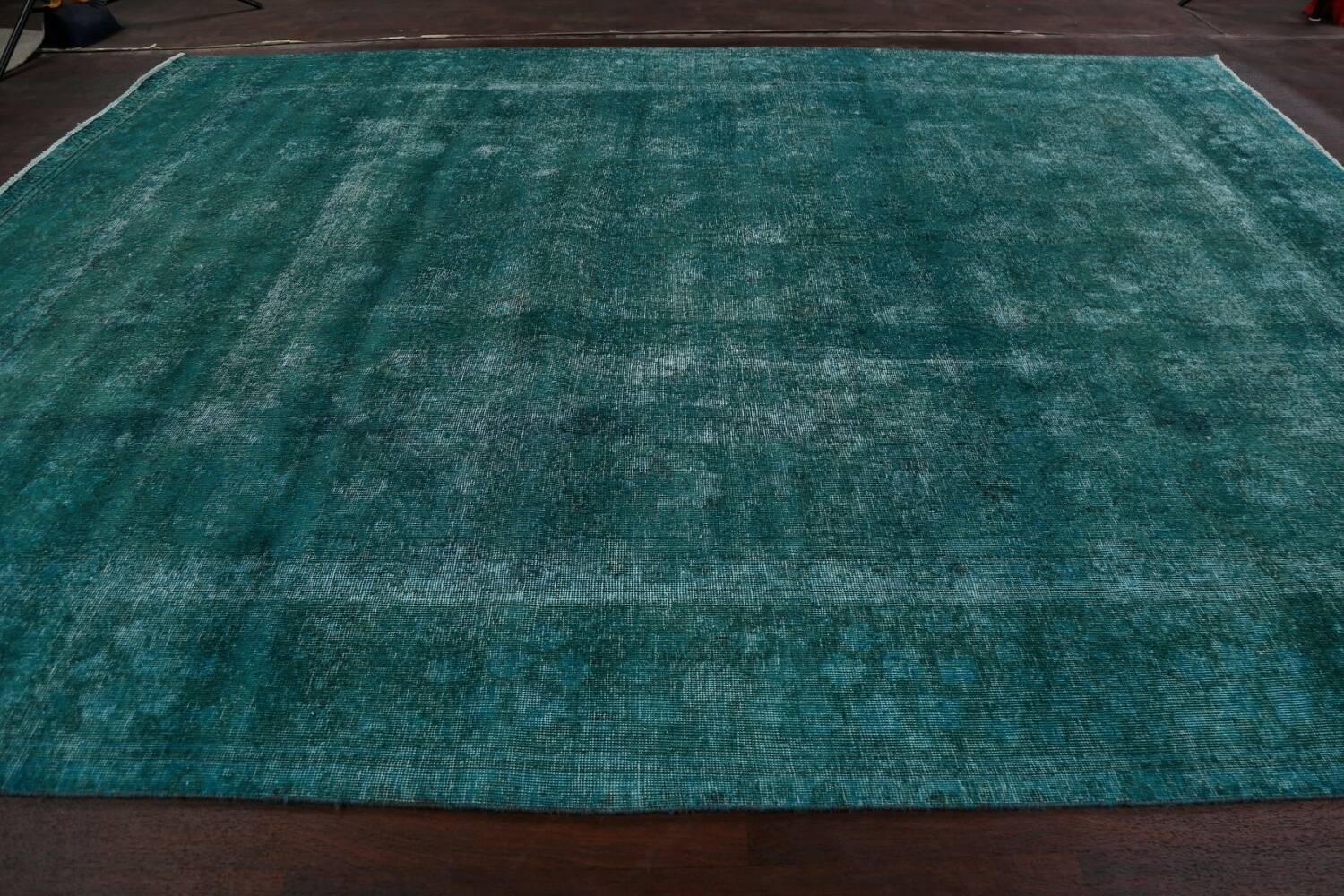 Distressed Over-dyed Tabriz Persian Area Rug 10x13 image 14