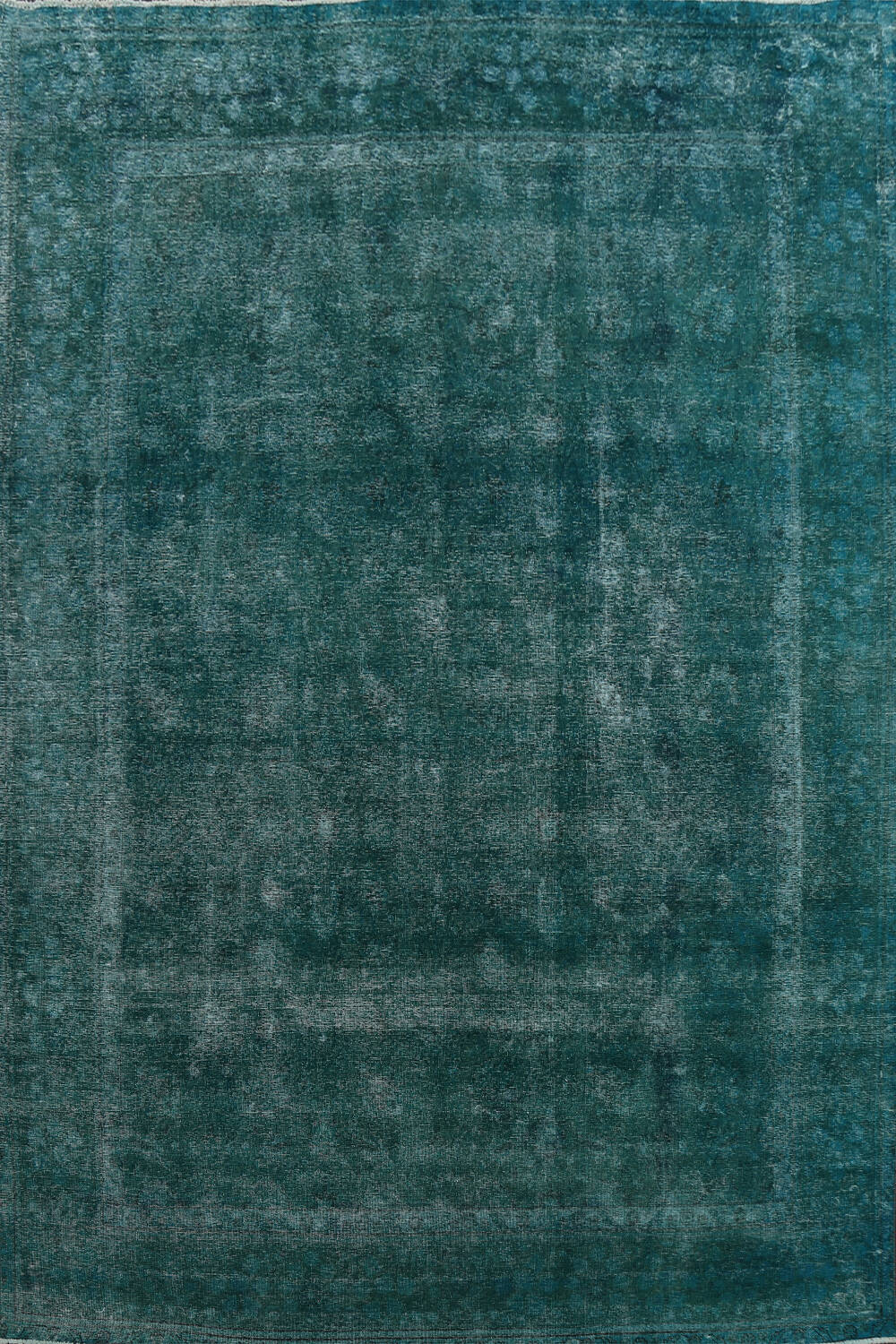 Distressed Over-dyed Tabriz Persian Area Rug 10x13 image 1