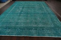 Distressed Over-dyed Tabriz Persian Area Rug 10x13 image 15