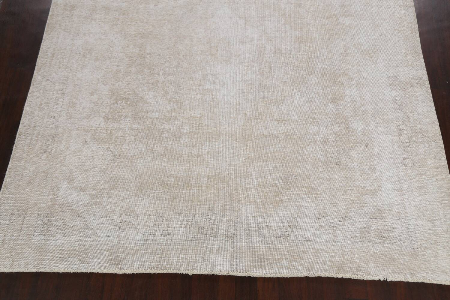 Muted Distressed Tabriz Persian Area Rug 9x11 image 8