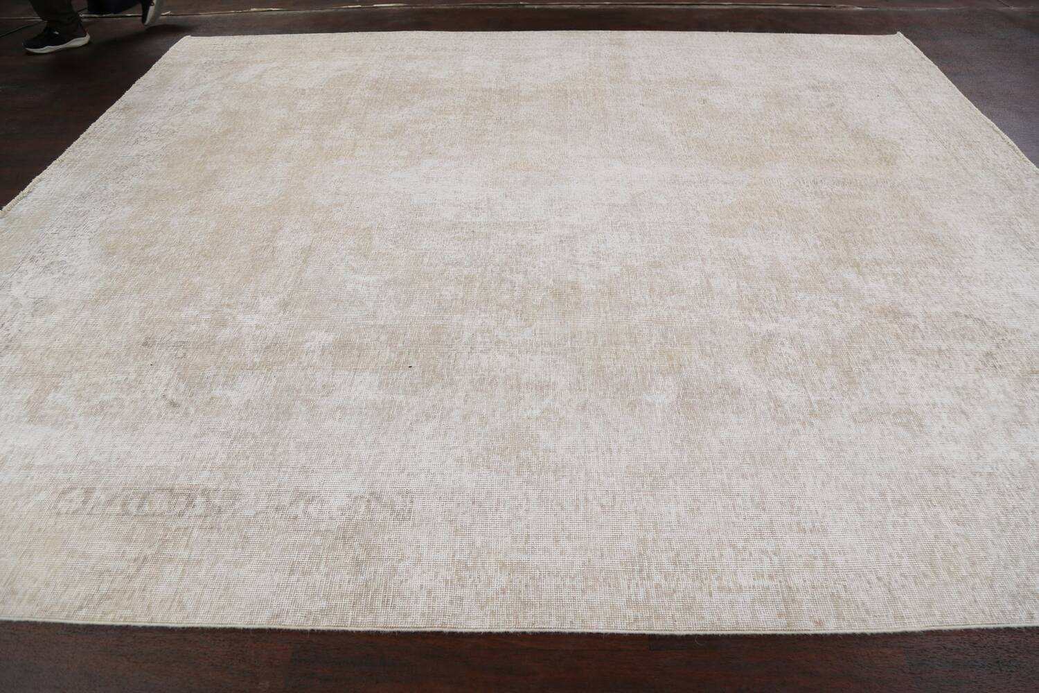 Muted Distressed Tabriz Persian Area Rug 9x11 image 13
