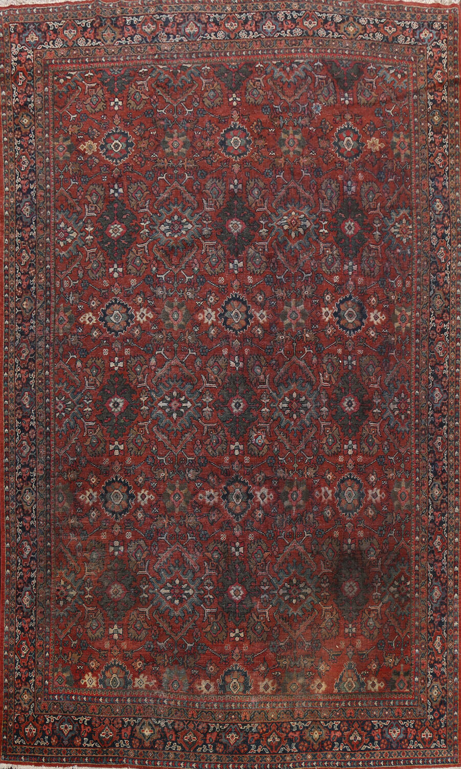 Pre-1900 Antique All-Over Mahal Persian Area Rug 9x13 image 1