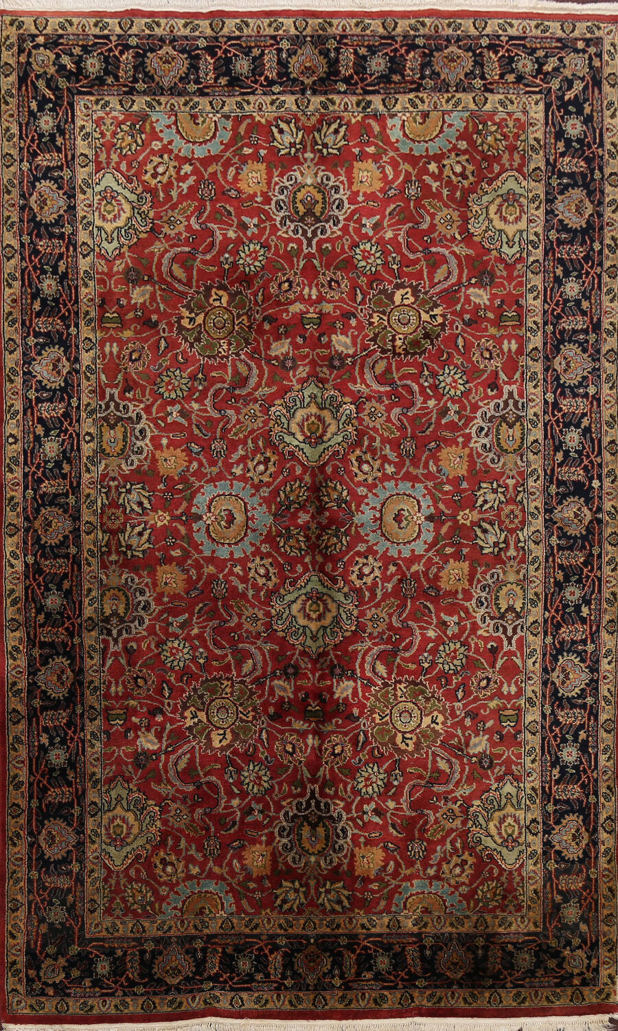 All-Over Floral Agra Oriental Area Rug 5x9 image 1
