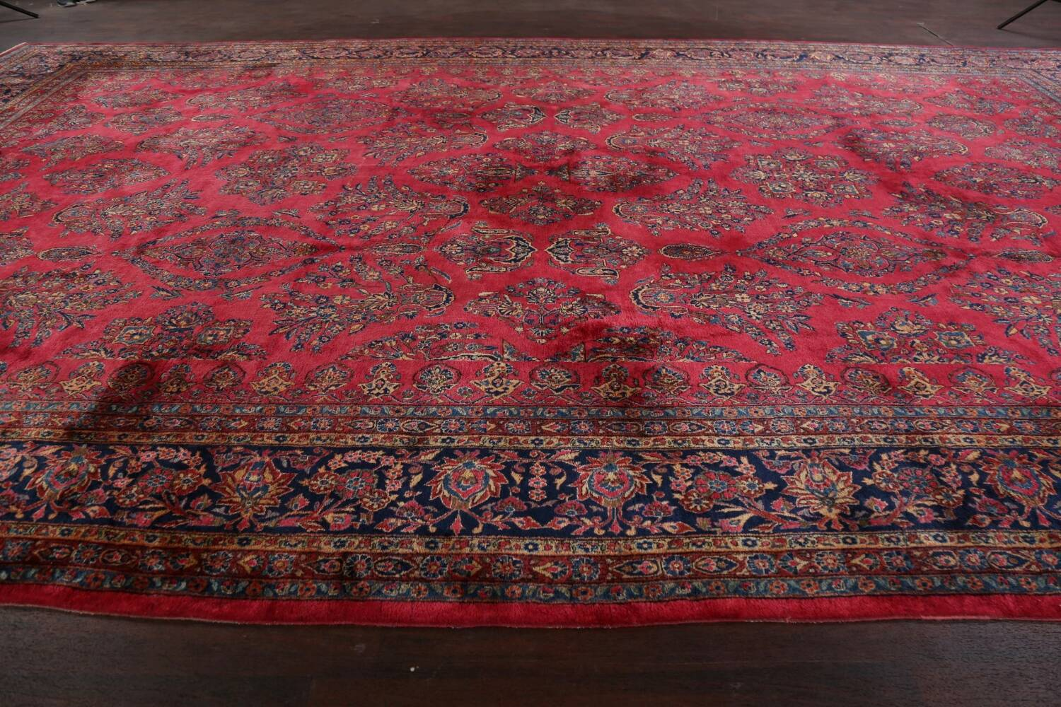 Antique 100% Vegetable Dye Kashan Persian Area Rug 12x20 image 15