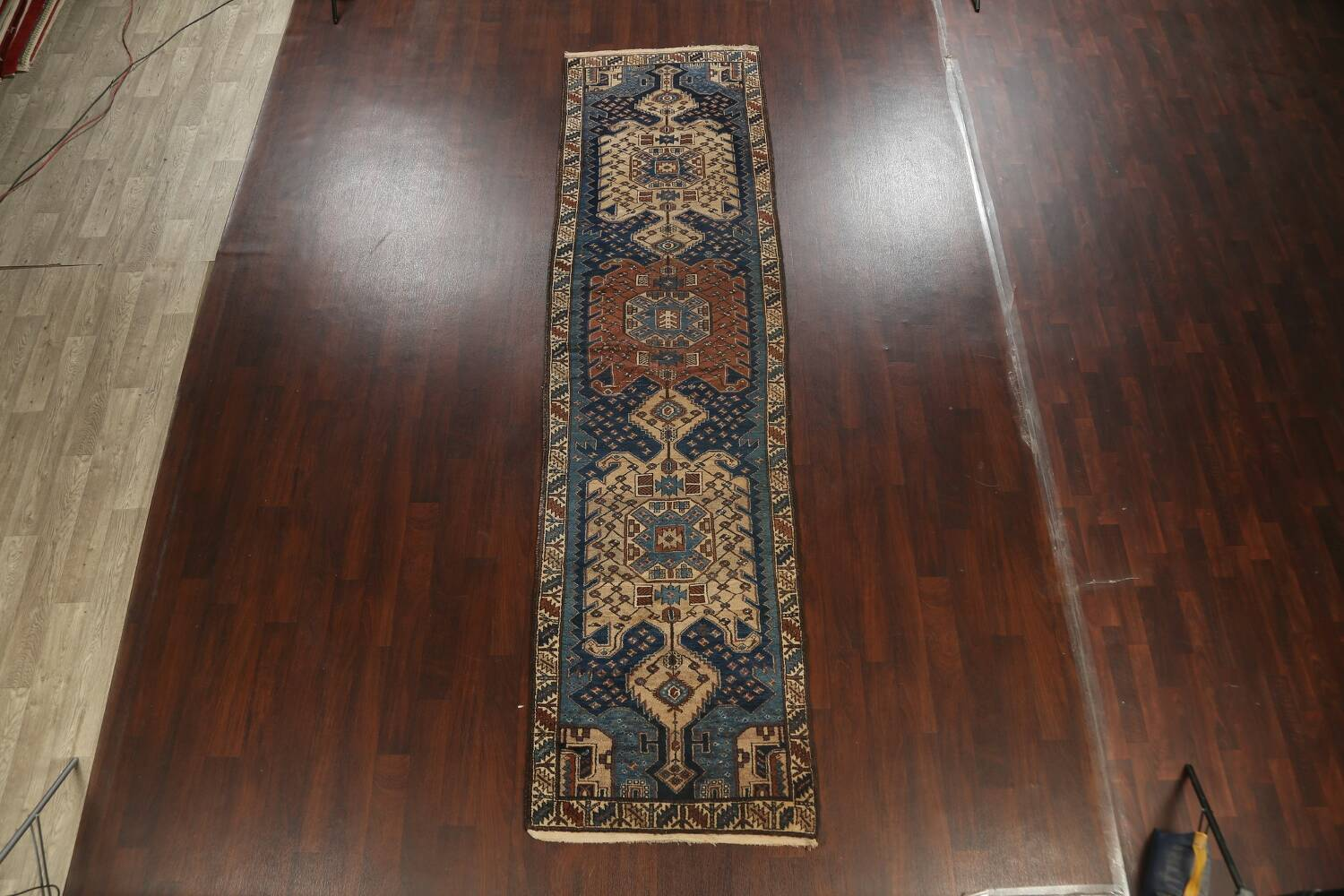 Pre-1900 Antique Vegetable Dye Malayer Persian Runner Rug 4x13 image 2
