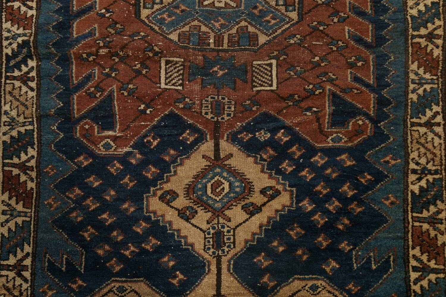Pre-1900 Antique Vegetable Dye Malayer Persian Runner Rug 4x13 image 4