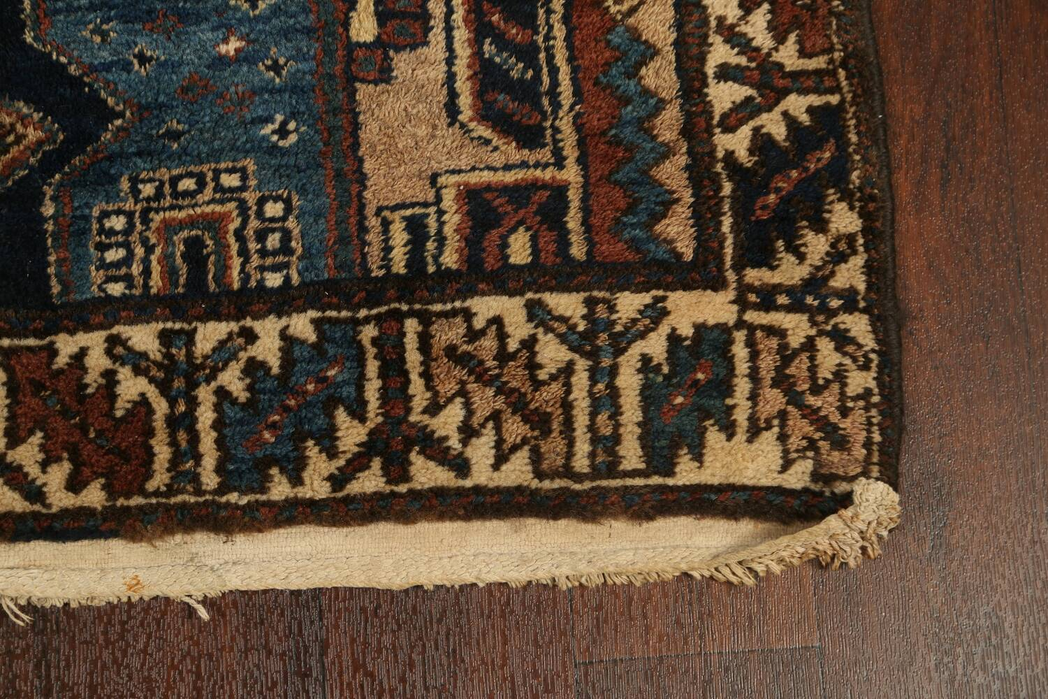 Pre-1900 Antique Vegetable Dye Malayer Persian Runner Rug 4x13 image 5