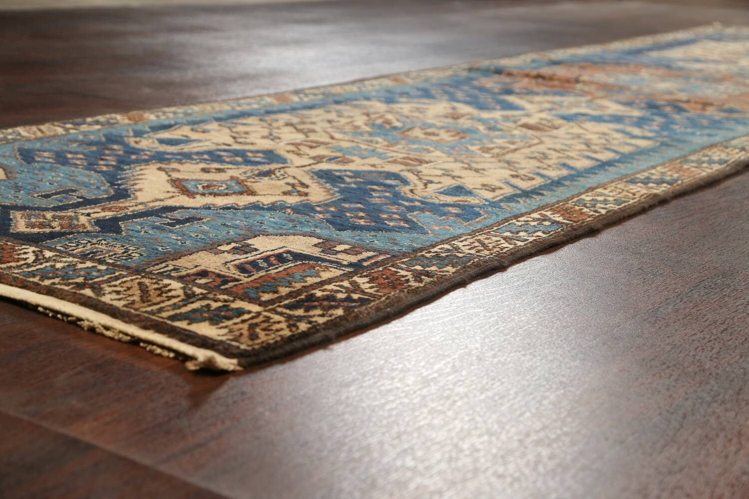 Pre-1900 Antique Vegetable Dye Malayer Persian Runner Rug 4x13 image 6