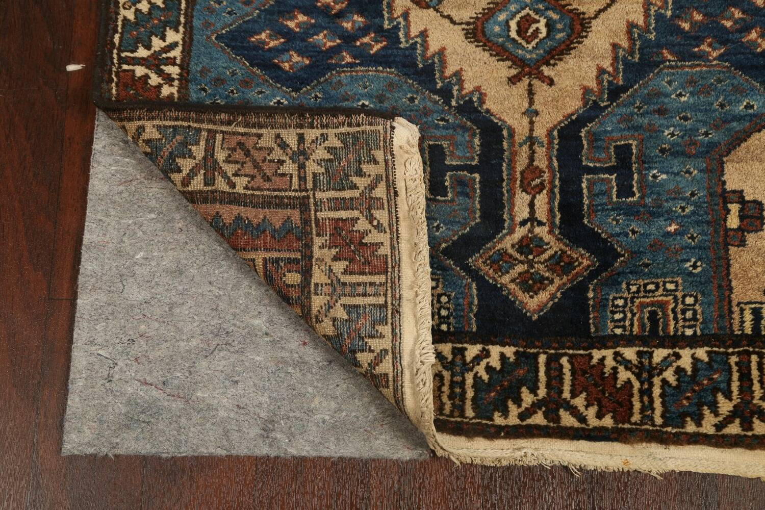 Pre-1900 Antique Vegetable Dye Malayer Persian Runner Rug 4x13 image 7