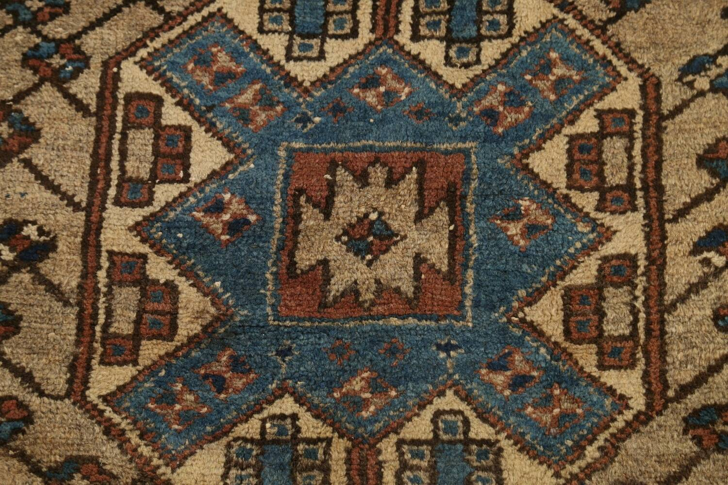 Pre-1900 Antique Vegetable Dye Malayer Persian Runner Rug 4x13 image 9