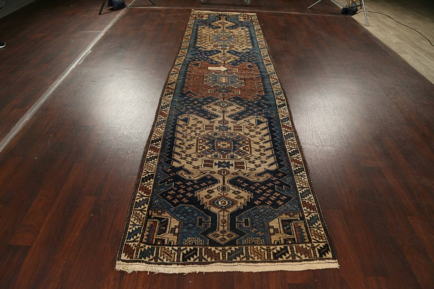 Pre-1900 Antique Vegetable Dye Malayer Persian Runner Rug 4x13 image 13