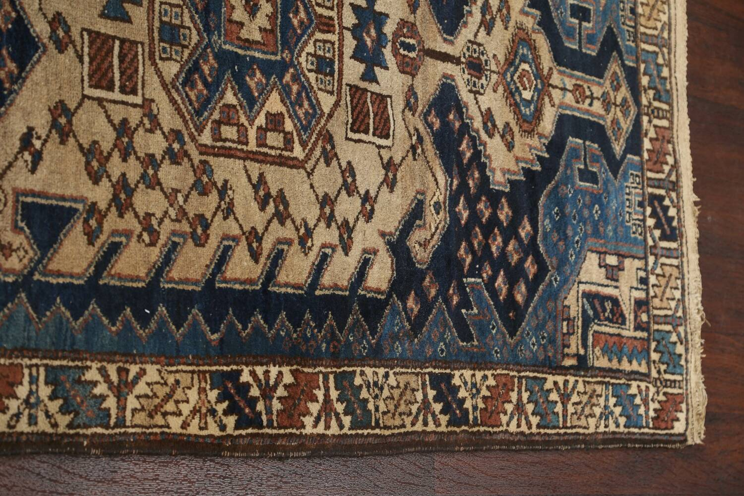 Pre-1900 Antique Vegetable Dye Malayer Persian Runner Rug 4x13 image 15