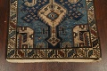 Pre-1900 Antique Vegetable Dye Malayer Persian Runner Rug 4x13 image 8