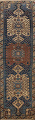 Pre-1900 Antique Vegetable Dye Malayer Persian Runner Rug 4x13 image 1