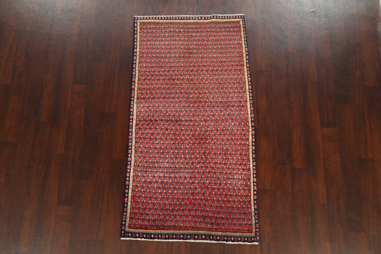 All-Over Boteh Red Botemir Persian Area Rug 3x6 image 2