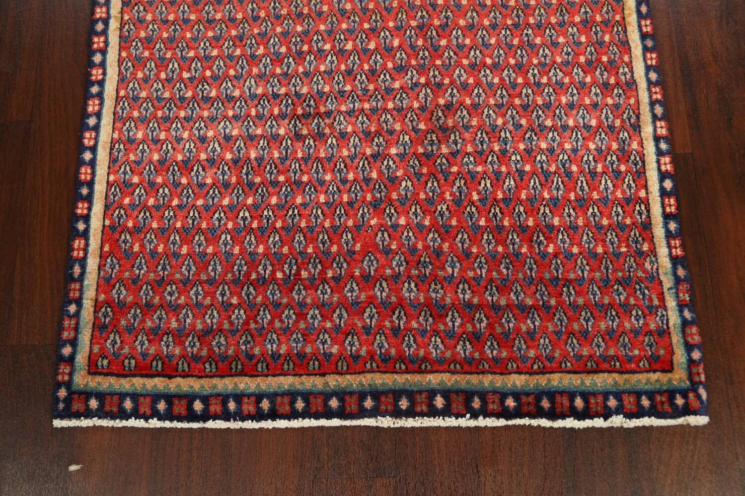 All-Over Boteh Red Botemir Persian Area Rug 3x6 image 8