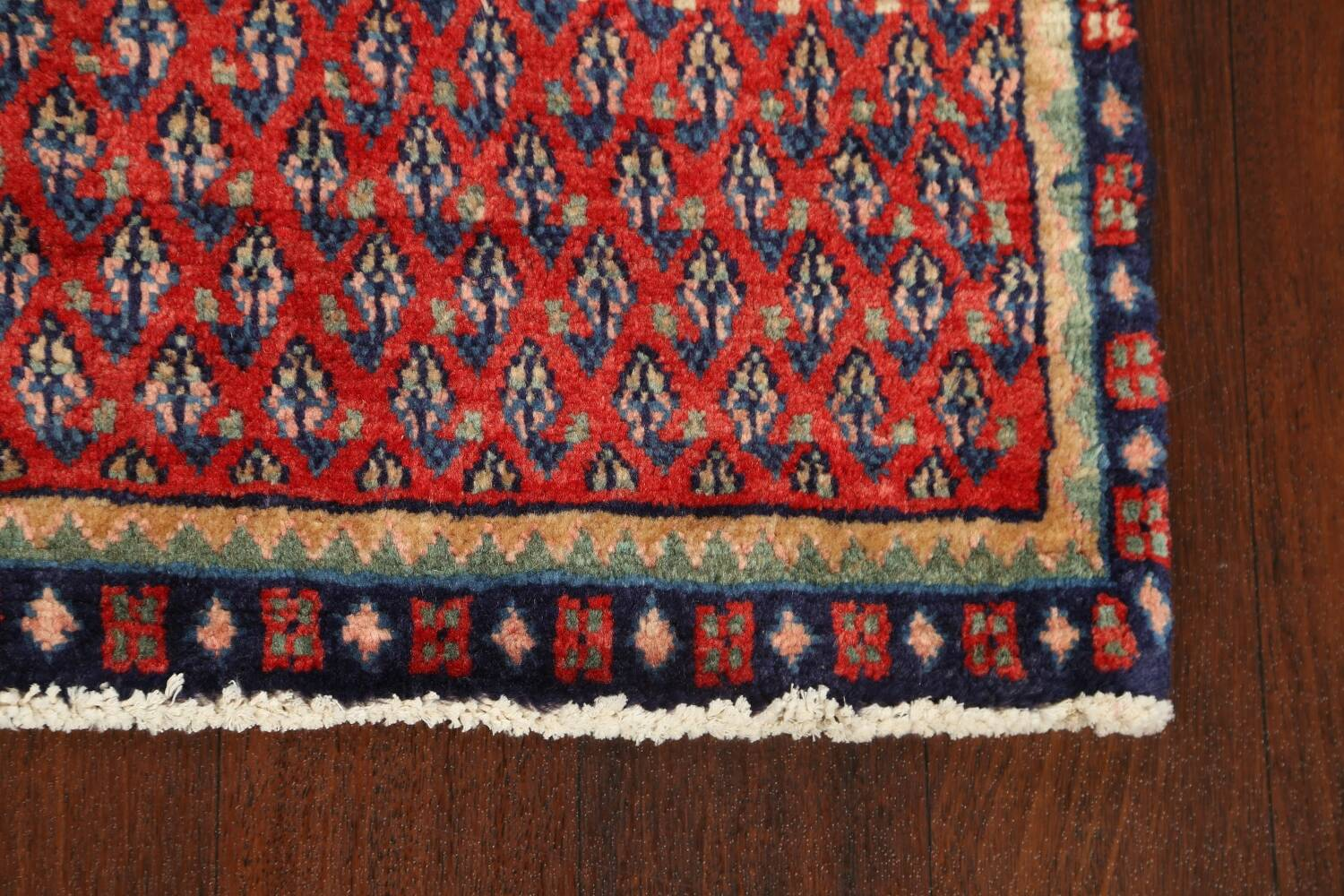 All-Over Boteh Red Botemir Persian Area Rug 3x6 image 5