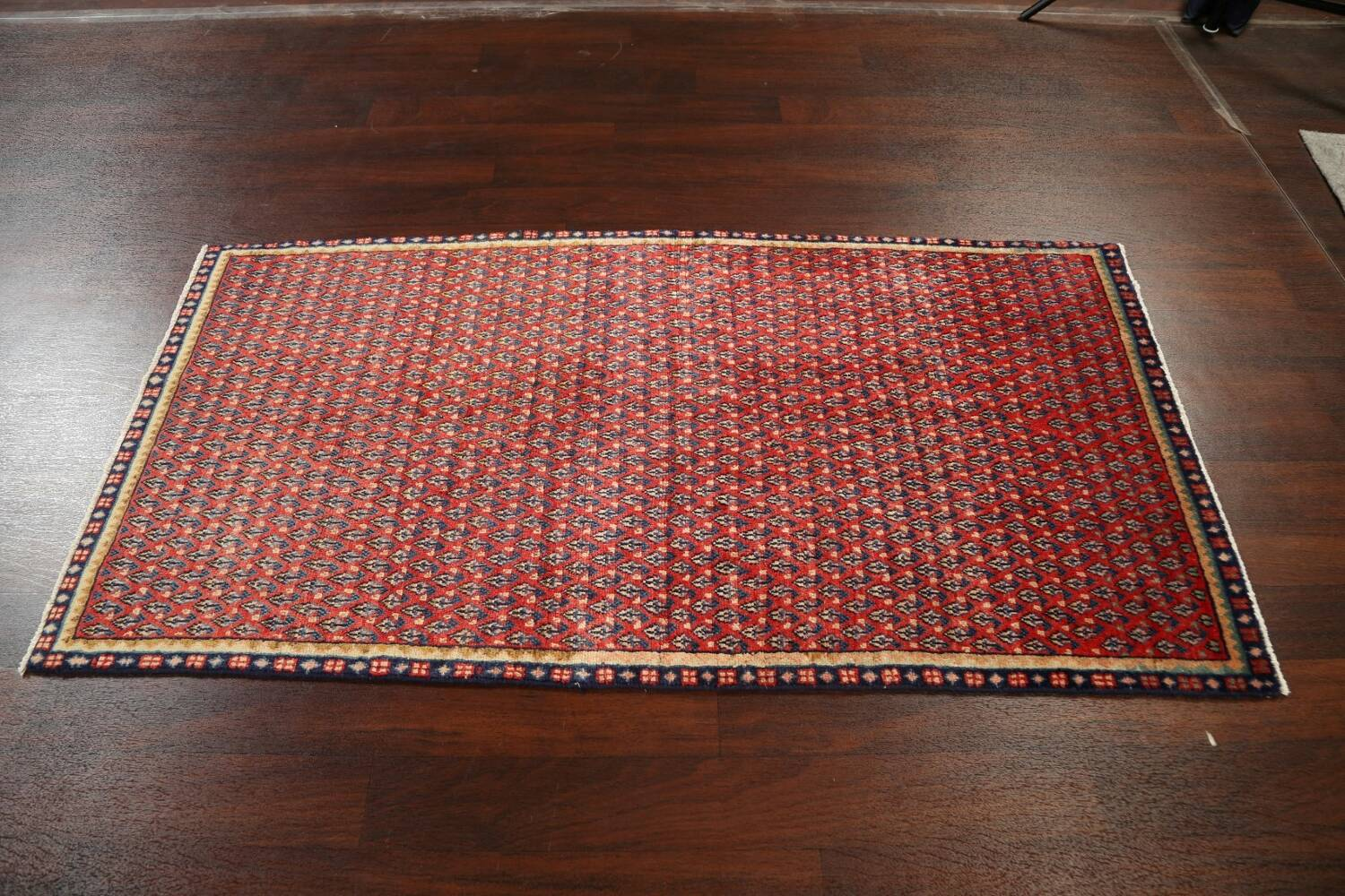 All-Over Boteh Red Botemir Persian Area Rug 3x6 image 15