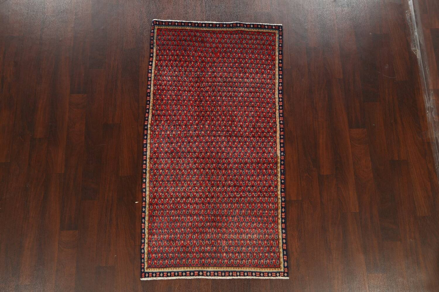 All-Over Boteh Red Botemir Persian Area Rug 3x6 image 16