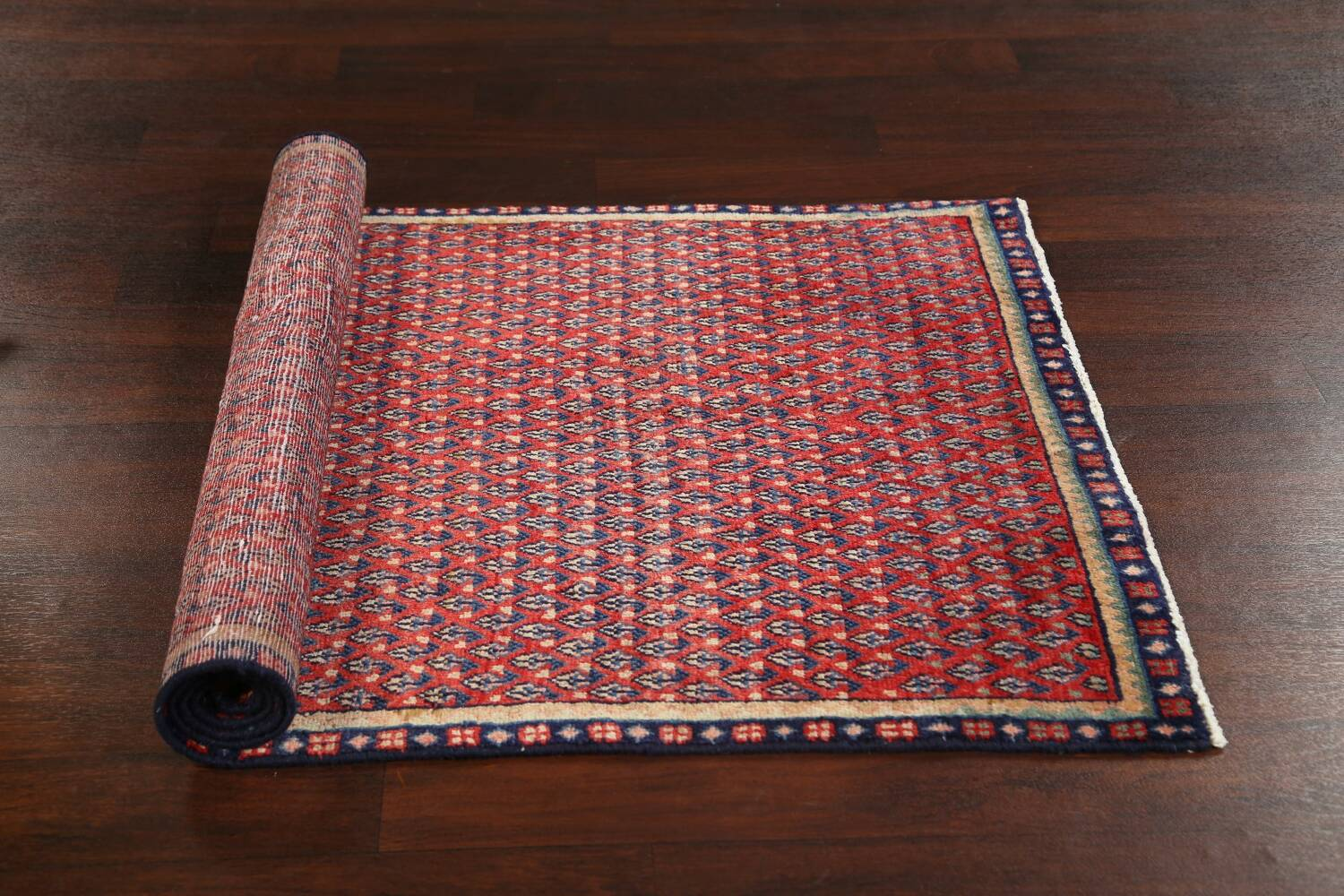 All-Over Boteh Red Botemir Persian Area Rug 3x6 image 17
