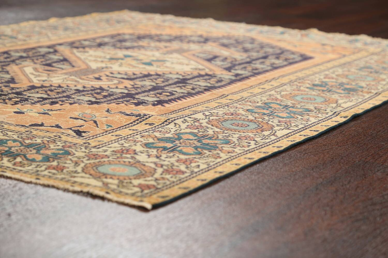 Antique 100% Vegetable Dye Sultanabad Persian Area Rug 4x5 image 6