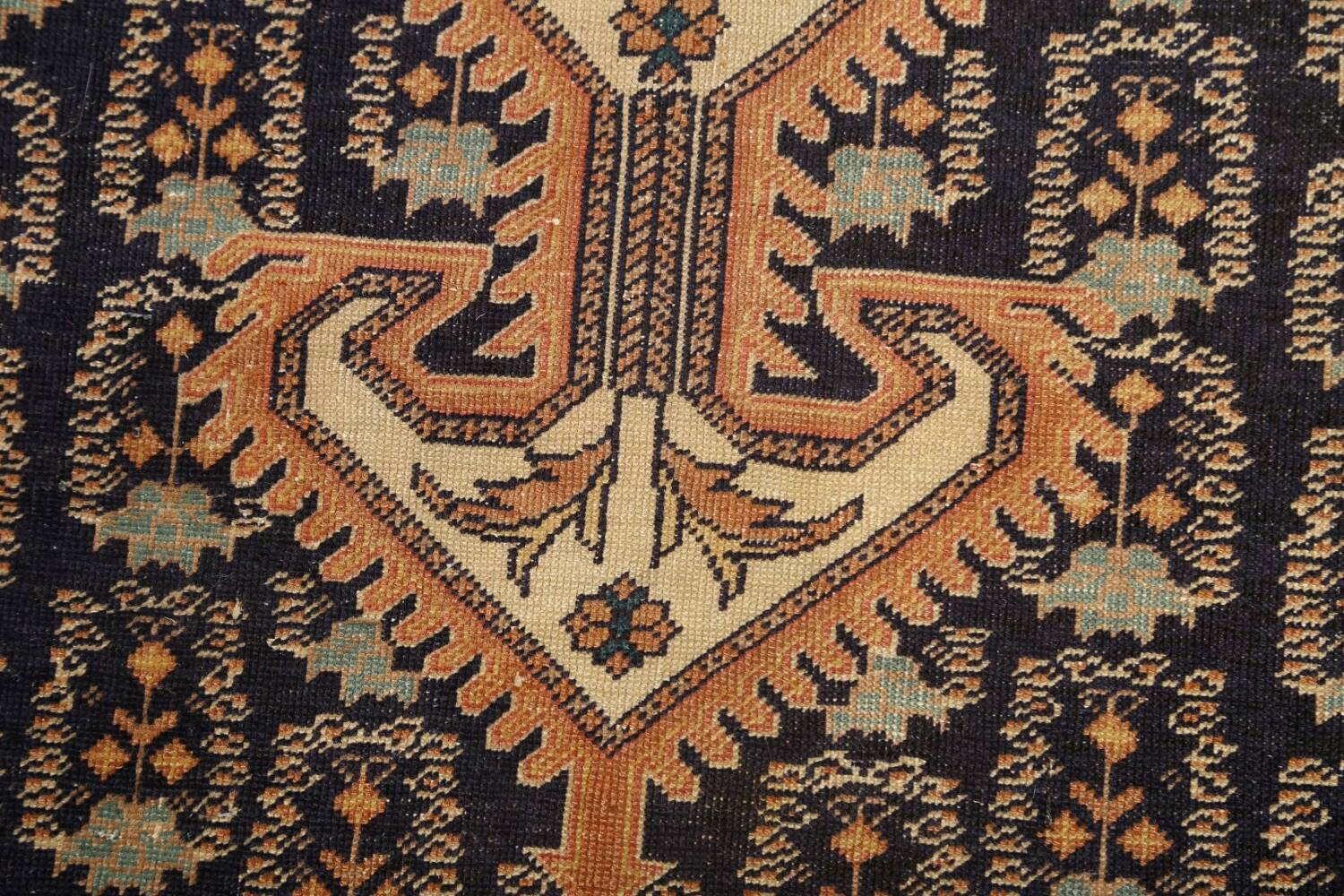 Antique 100% Vegetable Dye Sultanabad Persian Area Rug 4x5 image 9