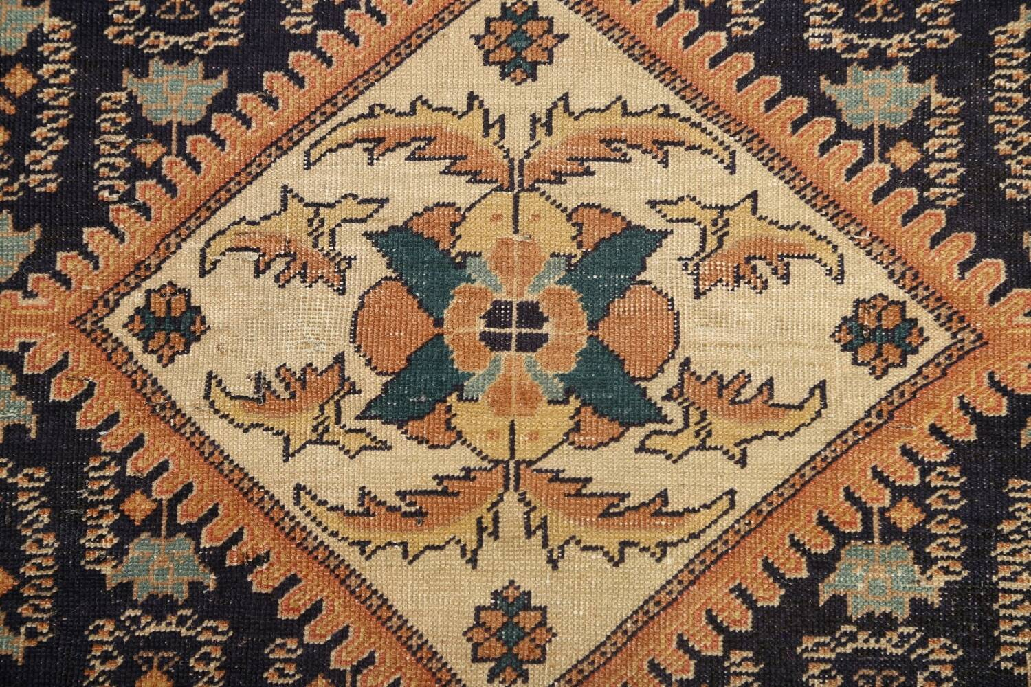 Antique 100% Vegetable Dye Sultanabad Persian Area Rug 4x5 image 10