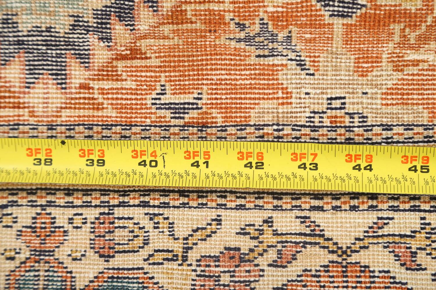 Antique 100% Vegetable Dye Sultanabad Persian Area Rug 4x5 image 18