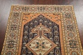 Antique 100% Vegetable Dye Sultanabad Persian Area Rug 4x5 image 11