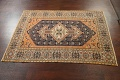 Antique 100% Vegetable Dye Sultanabad Persian Area Rug 4x5 image 13
