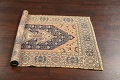 Antique 100% Vegetable Dye Sultanabad Persian Area Rug 4x5 image 15