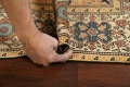 Antique 100% Vegetable Dye Sultanabad Persian Area Rug 4x5 image 16