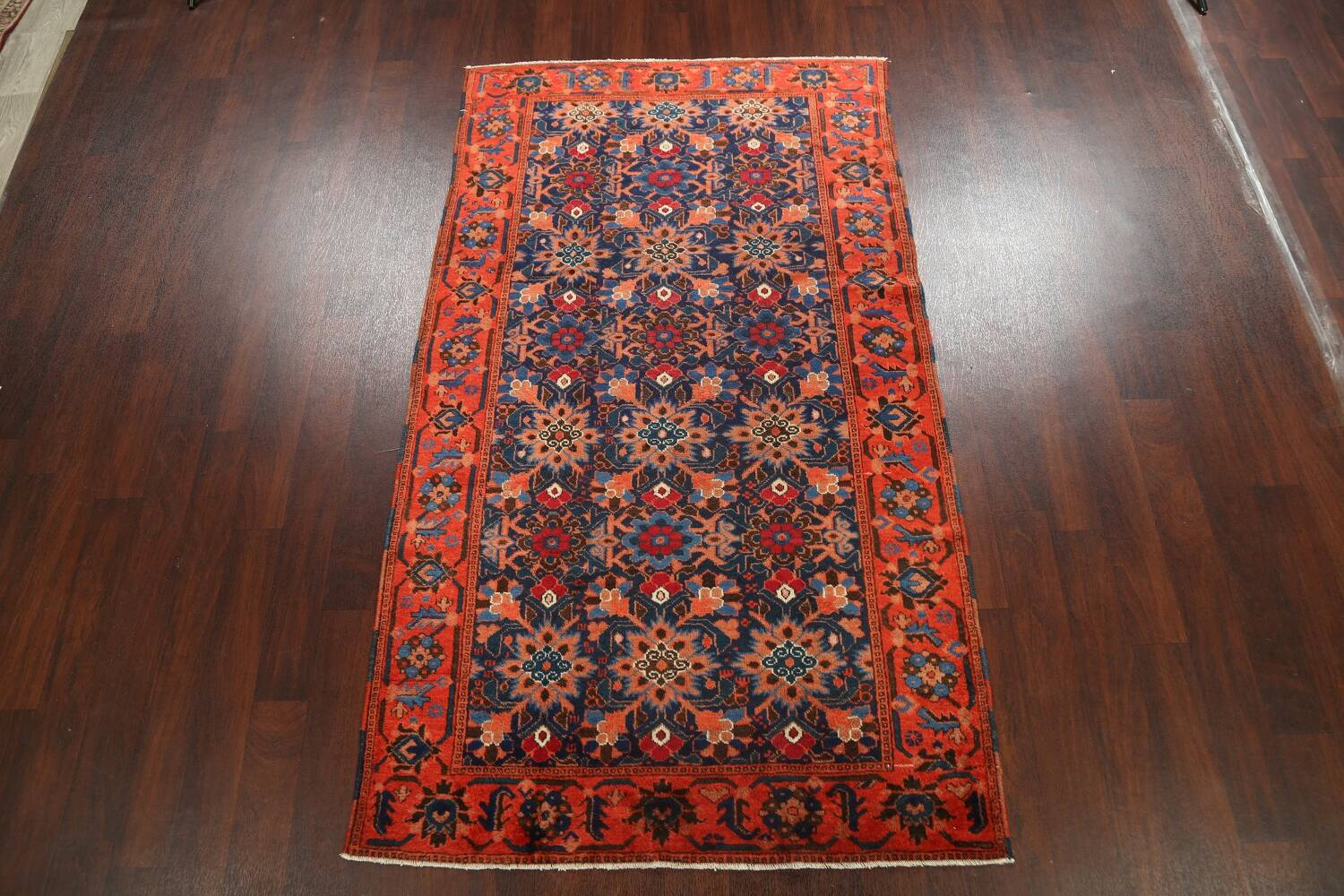 Antique 100% Vegetable Dye Malayer Persian Area Rug 4x7 image 2