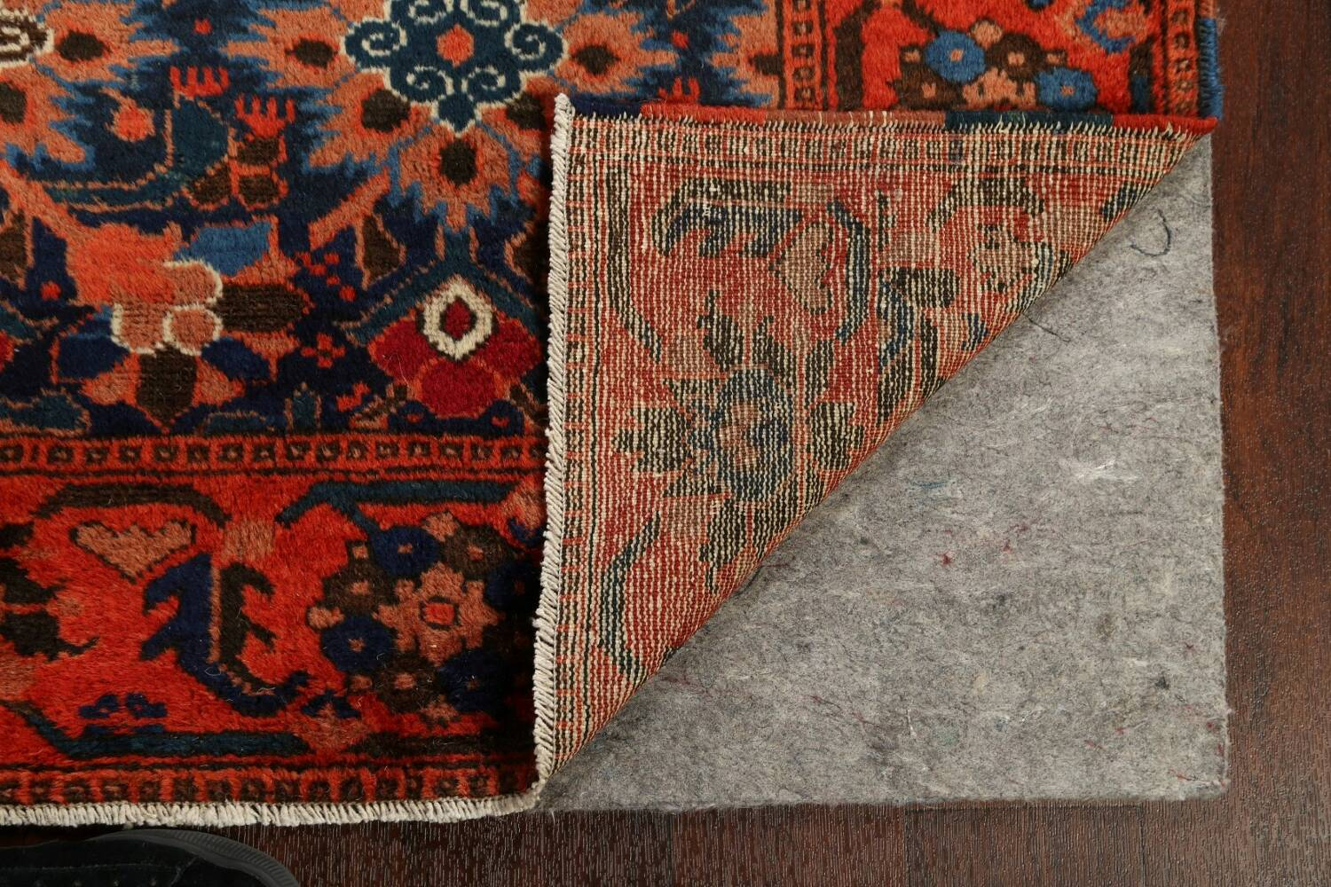 Antique 100% Vegetable Dye Malayer Persian Area Rug 4x7 image 7